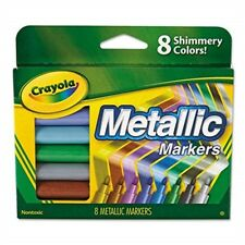Crayola Metallic Markers, 8 Count - Markers Colors New