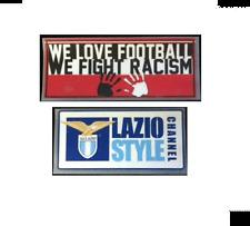 riproduzione sponsor lazio we love no racism e lazio style nuovo