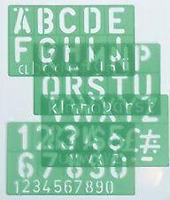 Linex Lettering Stencil - 50mm (4 Piece Set)