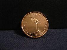 """2007 Slovenia Coin 1 Euro Cent  """"White Stork""""  uncirculated beauty bird coin"""