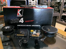 KICKER RS4 KIT 2 VIE SEPARATE MIDRANGE MIDWOOFER TWEETER E CROSSOVER NUOVO