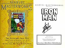 Stan Lee~Gene Colan~SIGNED~Invincible Iron Man~MARVEL MASTERWORKS Vol 65~1st/1st