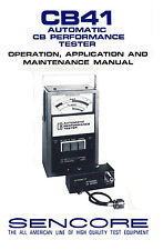 Sencore Test Equipment Manuals Amp Books Ebay