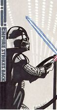 Star Wars Empire Strikes Back 3D Hand Drawn Color Sketch Card 1/1 Kevin Liell