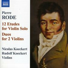 Rode,P. - 12 Etudes For Violin Solo Duos For 2 Violins (CD NEUF)