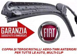 2 SPAZZOLE TERGICRISTALLO  FLAT ANTERIORI FIAT PANDA dal 10/2003 al 12/2012