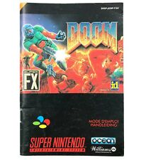 Notice jeu SNES Doom Livret Instruction Manuel PAL FAH