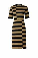 Derek Lam Women's Dress Black Size 10 Shift Striped Tee Colorblocked $990- #083