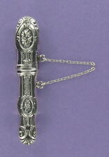 Sterling Silver 925 Victorian Replica Embossed Floral Design Needle or Pin Case