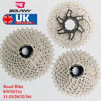 8/9/10/11S Road Bike Cassette 11-25/28/32/36 Sprocket Chain Fit Shimano/SRAM/KMC