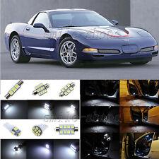8pcs Xenon White LED Interior Light Package Fit For 1997-2004 Chevy Corvette C5
