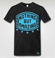 """NOTHING BUT AMAZING"" T-Shirt to Match Retro 12 ""GAMMA BLUE"""