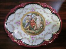 PROV SAXE ES Germany Fine Porcelain Hand Painted W/ Gold Classical Scene Plate