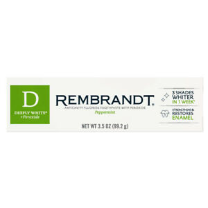 REMBRANDT Deeply White + Toothpaste 99.2 g 3.5 OZ New Improved Whitening