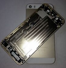 IPHONE 5S METAL FRAME BACK REAR HOUSING CHASSIS BATTERY COVER GOLD CASE WHITE UK