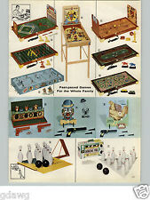 1960 PAPER AD 2 PG Toy Games Montreal Canadiens Toronto Maple Leafs Hockey Game