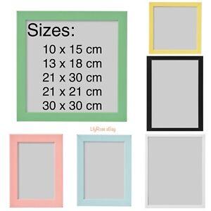 IKEA Fiskbo Photo Frame Picture Document Black Blue White Pink 10x15 13x18 21x30