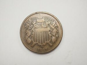1867 ~ TWO CENT PIECE ~ #392