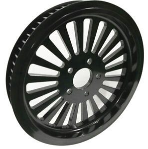 """FAT SPOKE BLACK 65 TOOTH PULLEY 1.5"""" WIDE HARLEY DYNA SOFTAIL TOURING FXR 86-99"""