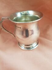 More details for antique 1925  vintage pure silver christening cup