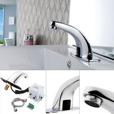 Automatisch Wasserhahn Waschbecken Armatur Badarmatur mit Infrarotsensor Chrom..