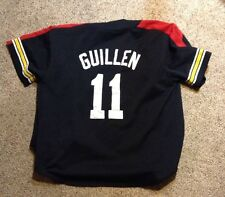 Pittsburgh Pirates Vintage Guillen Baseball SEWN Size Large Starter Jersey