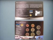 """KMS ESTLAND """" DAS GELD DER WELT """" mit Münzdokument - Kursmünzensatz MDM"""