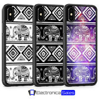Elephant Henna Aztec Animal Phone Case for iPhone  X XS XR 8 Plus 7 6 6S 5 5S SE