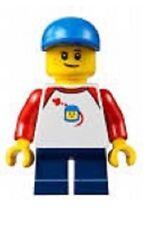 LEGO Minifigure City BN mini figure Male boy child blue pants hat retro space to