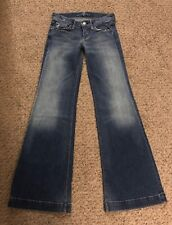 """Seven 7 For All Mankind Low Rise Ginger Wide Leg Jeans Size 24 Meas. W26""""xL32"""""""