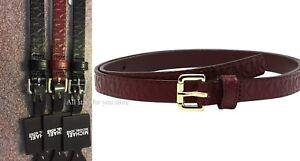 Michael Kors Belt Monogram Embossed Veg Belt MK Logo Roller