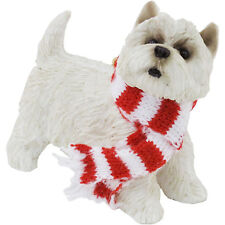 Sandicast Westie West Highland Terrier w/Red & White Scarf Ornament Gift Dog