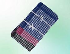 Herren Taschentuch Tuch Tücher 12 Stück 38*38 cm Packung Blau Grau Braun Kariert