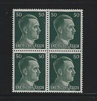 MNH  Adolph Hitler stamp block / 1941 PF50 / Original Third Reich era Germany