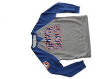 Junk Food Denver Broncos Sports Football Gray Fleece Sweatshirt Pullover NWOT