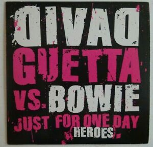 DAVID GUETTA vs DAVID BOWIE : HEROES (radio mix) ♦ X-RARE FRENCH PROMO CD ♦