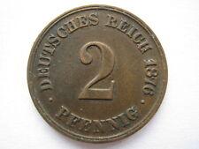 Germany 1876-A 2 Pfennig, EF.