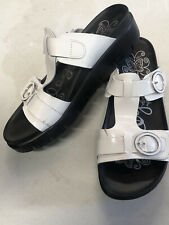 Alegria Sandals White Black Women's Euro Size 40 US 9
