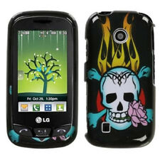 For LG Cosmos Touch VN270 Protector Hard Case Snap on Phone Cover Flame Skull