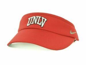NIKE UNLV University Nevada Las Vegas RED Adjustable Sideline DRI FIT VISOR NEW