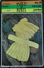 Baby Jacket, Dress * 3 sizes * CLECKHEATON 3 ply & 4 ply Crochet Pattern * 58