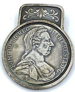 Antique Vintage Austria Maria Theresa Thaler Collectible Clip  Burg Cotyr 1780