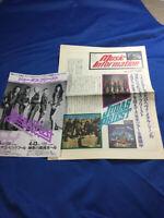Judas Priest Japan tour promo flyer 1991 and tabloid paper