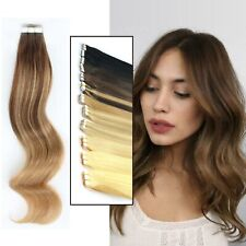 Straight Tape In woman hair Deluxe Deluxe 100% Remy Human Hair Extension UK