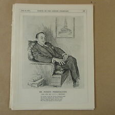 "7x10 ""Punch Cartoon 1928 Señor Punch `s personalidades: Rev H R L Sheppard"