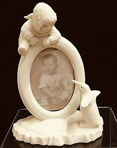 """1993 Dept. 56 Snowbabies Baby's First Smile Picture Frame 6 3/4"""" x 5"""""""