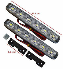 UNIVERSAL LED DRL LIGHTS DAYTIME RUNNING LIGHTS FOG COB WATERPROOF 6LED-FRD4