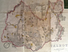 Antique Map 233-454 Victoria – County of Talbot by Bailliere c.1866