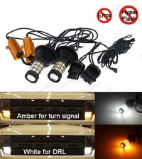 Plug&Play Switchback Front Parking Turn Signal LED Light+ Resistor For Ford F150
