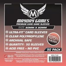 50x Premium Medium Square Card Sleeves ( 80x80mm ) MDG7145 for 7th continent